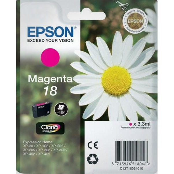 Epson T1803 Magenta Ink Cartridge