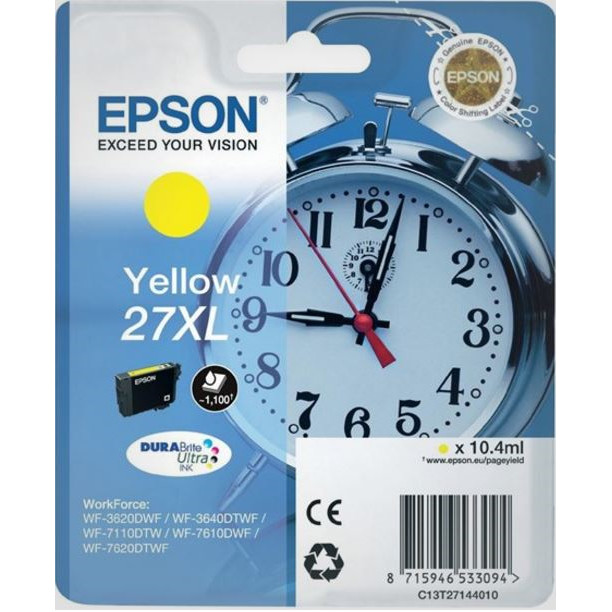 Epson T2714 Yellow Ink Cartridge XL