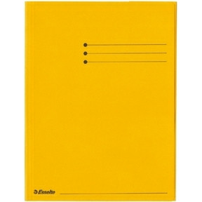 Esselte Folder 3 Flap Rainbow Card A4 yellow