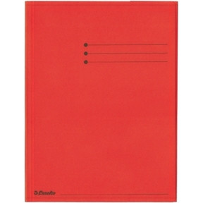 Esselte Folder 3 Flap Rainbow Card A4 red