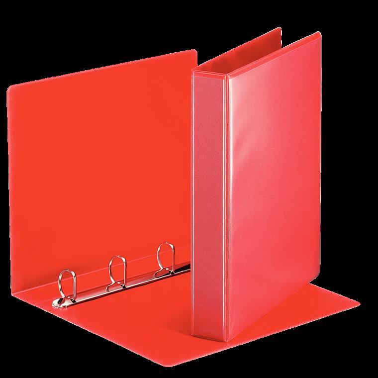 Esselte A4 hobbymappe med 51 mm ryg og 4 ringe - Rød 49713