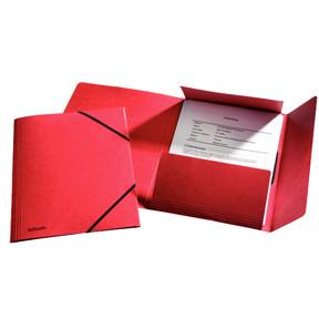 Esselte 3-flap Folder w/elastic  A4 red - FSC
