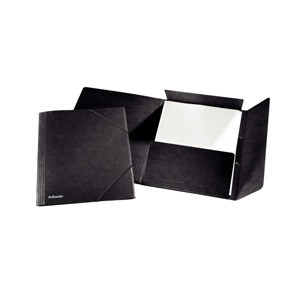 Esselte 3-flap Folder w/elastic A4 black
