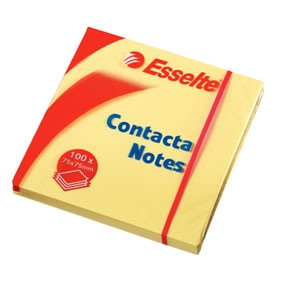 Esselte Contacta Notes 75x75 yellow