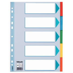 Esselte Divider A4 5 tabs Multicolour