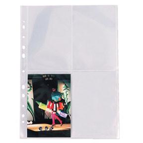 Fotolommer 10x15 cm 80my PP glasklar A4 - 10 stk