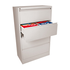 Esselte Filing cabinet Lateral A4 4 Drawer white