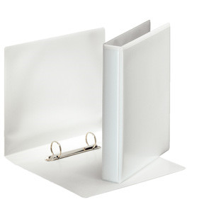 Esselte Binder panorama A5 2 D-ring 25 mm white | 38 mm ryg