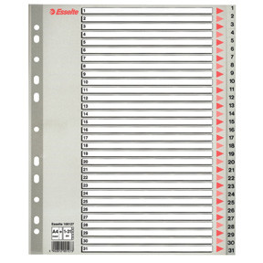 Esselte IIndices PP A4 Maxi 1-31 grey