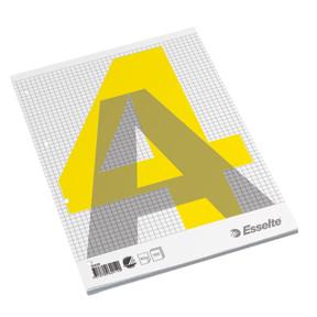 Esselte A4 blok med 100 ark limet i siden - Kvadreret