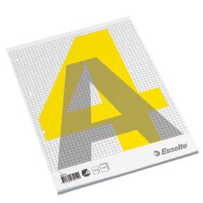 A4 Standardblok Esselte toplimet kvadreret - 100 ark med 4 arkivhuller