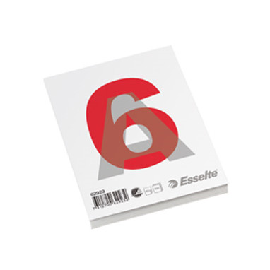 Esselte Glued pad A6 60g/100 sheets w/o ruling