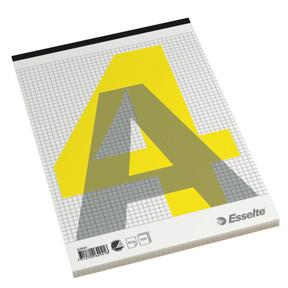 A4 blok med 100 sider og stub i top Esselte - Kvadreret