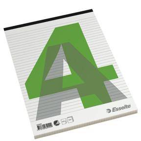 A4 blok med 100 sider og stub i top Esselte - Linieret