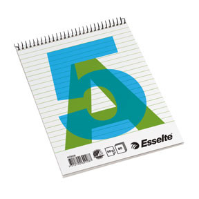 Esselte Spiral notes A5 60g/80 sheet ruled