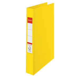 Ringbind A4 Esselte gul med 4 ringe og 42 mm ryg  - 14458