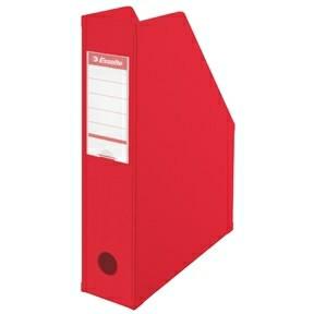 Tidsskriftholder A4 Esselte med 70 mm ryg - Rød