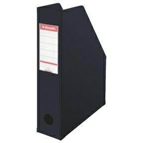 Tidsskriftholder A4 Esselte med 70 mm ryg - Sort