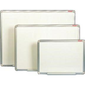 Esselte whiteboardtavle - 45 x 60 cm glasemaljeret med grå alukant