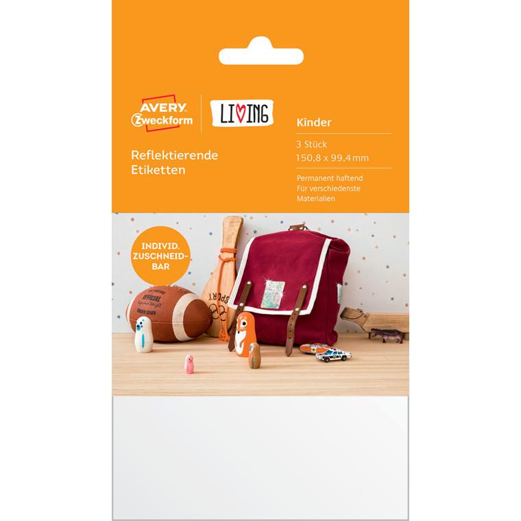 Avery 62037 - Reflekterende etiketter 150,8 x 99,4 mm - 3 stk