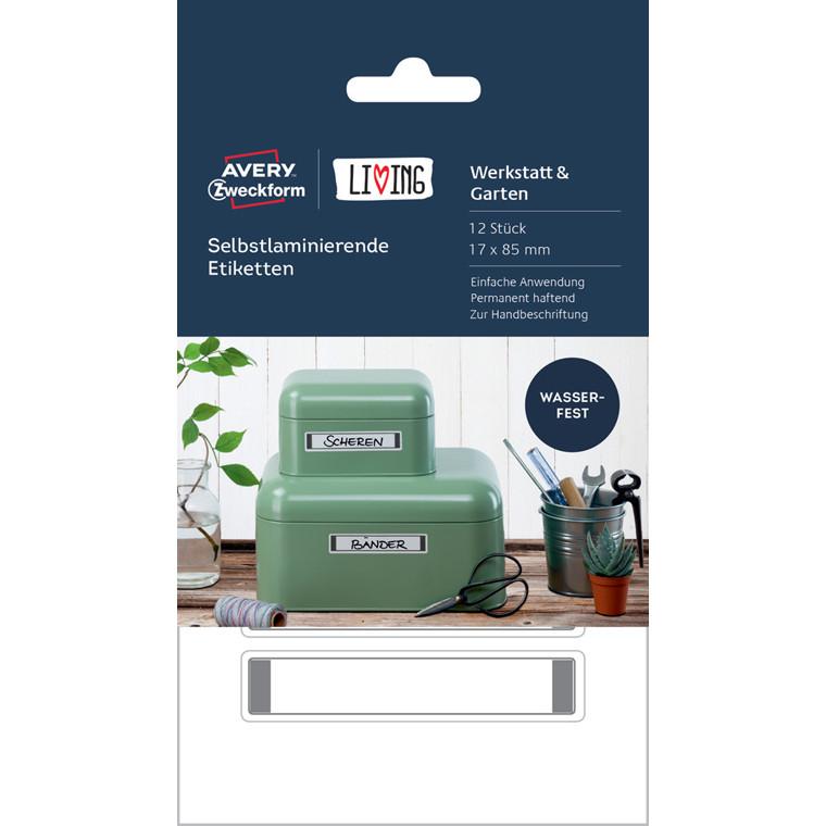 Avery 62032 - Selvlaminerende etiketter 17 x 85 mm - 12 stk
