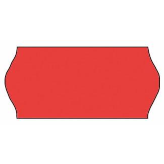 Etiket - Meto 26 x 12 mm fluor. rød nonperm. lim 1 - 1500 stk