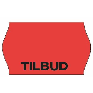 Etiket - Meto 32 x 19 mm fluor. rød perm. lim 2 TILBUD - 1000 stk