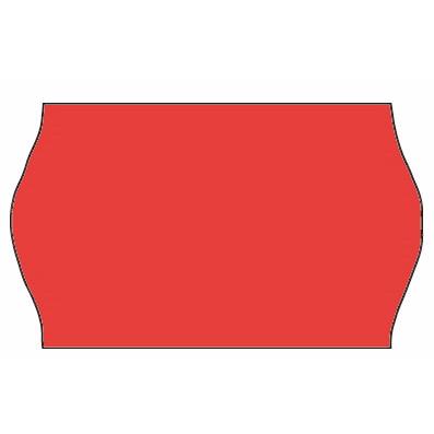 Etiket - Meto 32 x 19mm fluor. rød frostlim 5 - 1000 stk