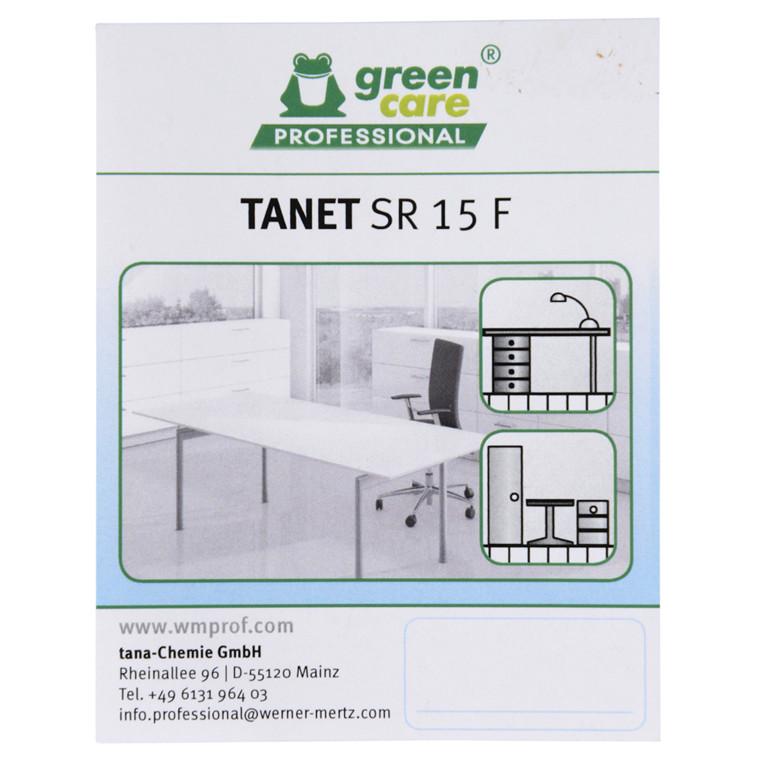 Etiket, Tana Green Care Tanet SR 15 F, universalrengøring,