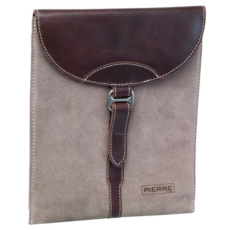 Etui til tablets Pierre Duo ruskind og brun læder