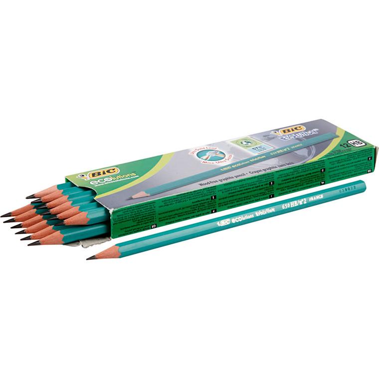 Evolution blyant, L: 17,5 cm, 2 mm mine, hårdhed HB, 12stk., tykkelse 7 mm