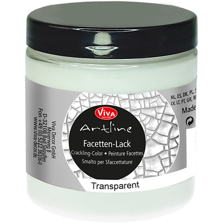 Facetten-Lack, transparent, 250ml