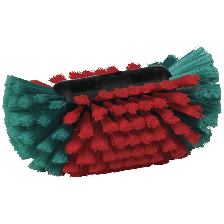 Fælgbørste, Vikan Transport, med vandgennemløb, sort/rød/grøn, 15  x  24 cm,