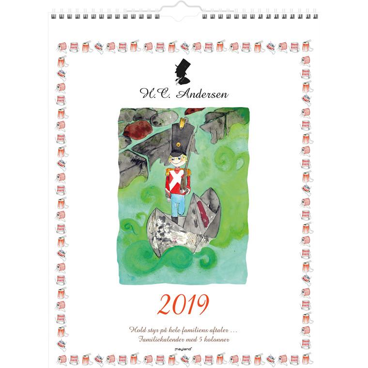 Mayland Familiekalender 2019 H. C. Andersen 5 kolonner 29,5 x 39 cm - 19 0663 70