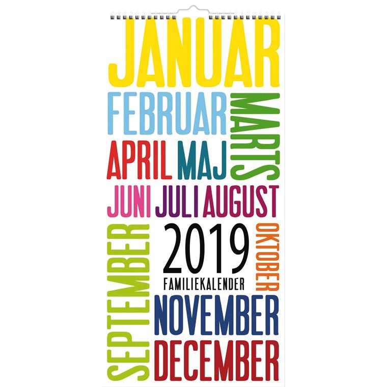 Familiekalender 2019 Mayland TrendArt 22 x 43 cm - 19066190
