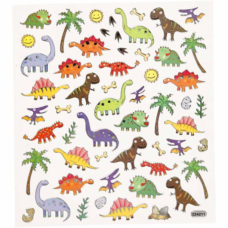Stickers dinosaurus - ark 15 x 16,5 cm
