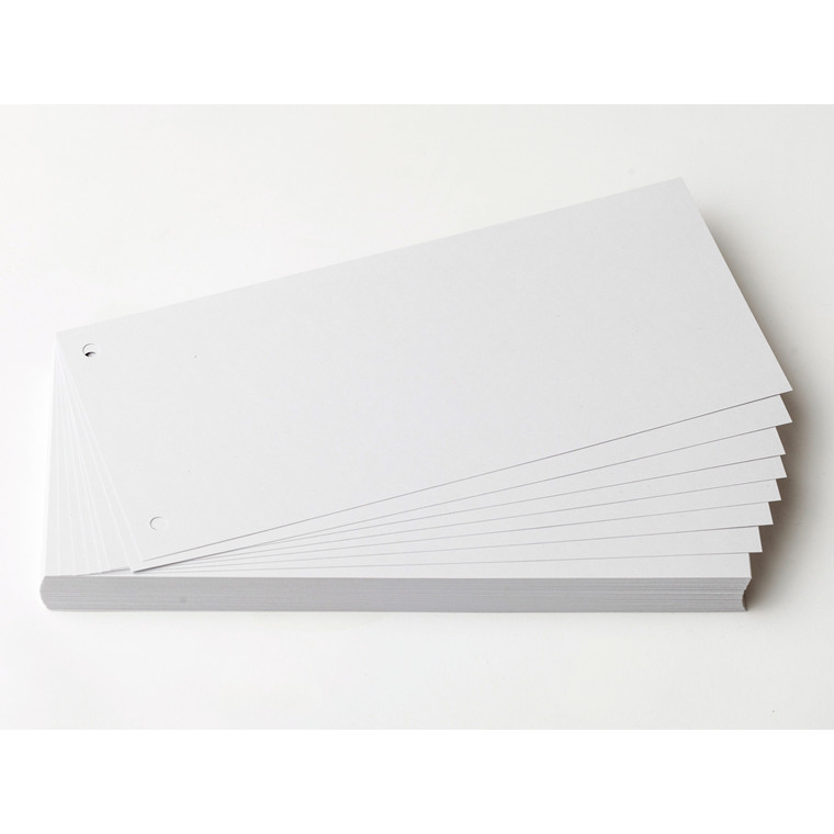 Faneblade karton hvid 10,5x24cm 190g 100ark/pak