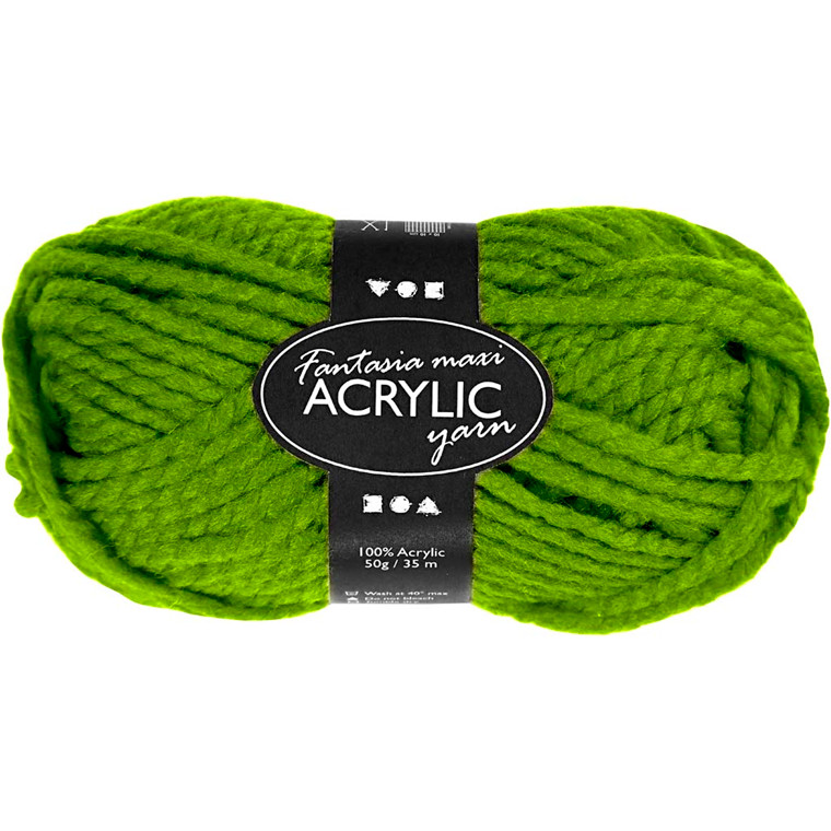 Fantasia Akrylgarn, L: 35 m, grøn, Maxi, 50g