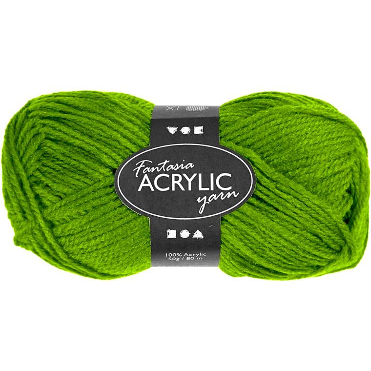 Fantasia Akrylgarn, L: 80 m, lys grøn, 50g