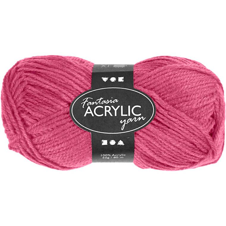 Fantasia Akrylgarn, L: 80 m, rosa, 50g