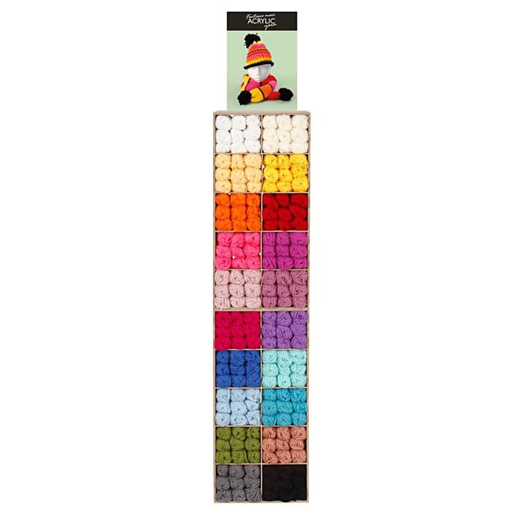 Fantasia Maxi akrylgarn, ekskl. inventar, 200salgsenheder