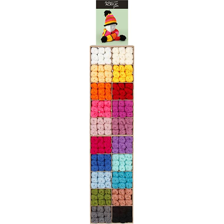 Fantasia Maxi akrylgarn inklusiv inventar - 200 salgsenheder