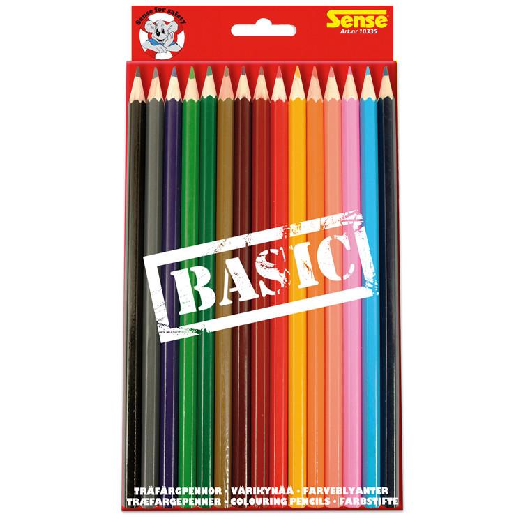 Farveblyanter Sense Basic ass. 15stk