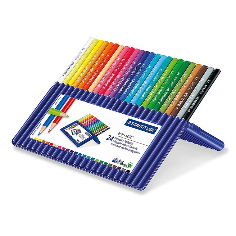 Farveblyanter Staedtler Ergosoft - Sæt med 24 farver - 157-SB24