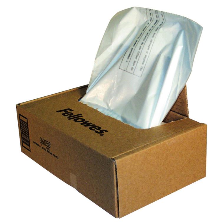 Fellowes Plastiksække - til makulering - 50 stk