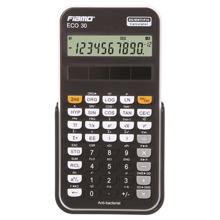 Fiamo Eco 30 Anti-bacterial Calculator, Black