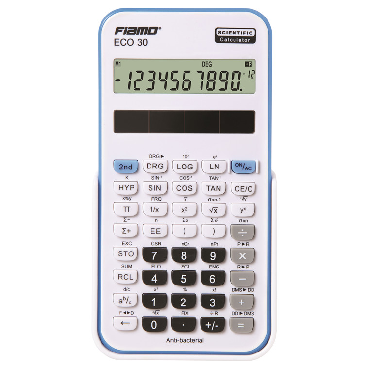 Fiamo Eco 30 Anti-bacterial Calculator, Blue