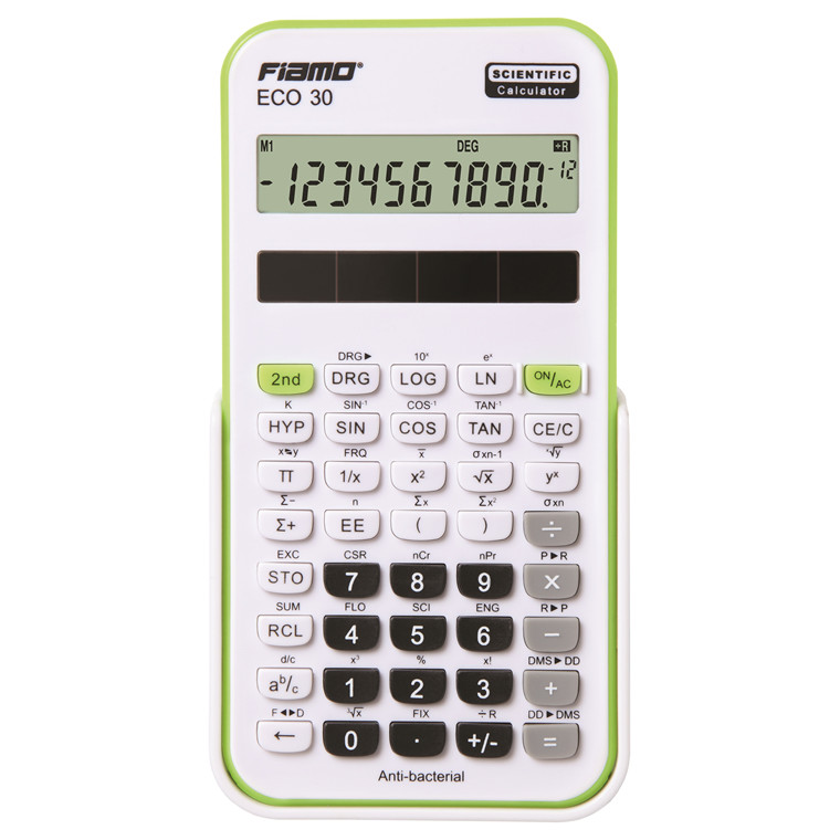 Fiamo Eco 30 Anti-bacterial Calculator, Green