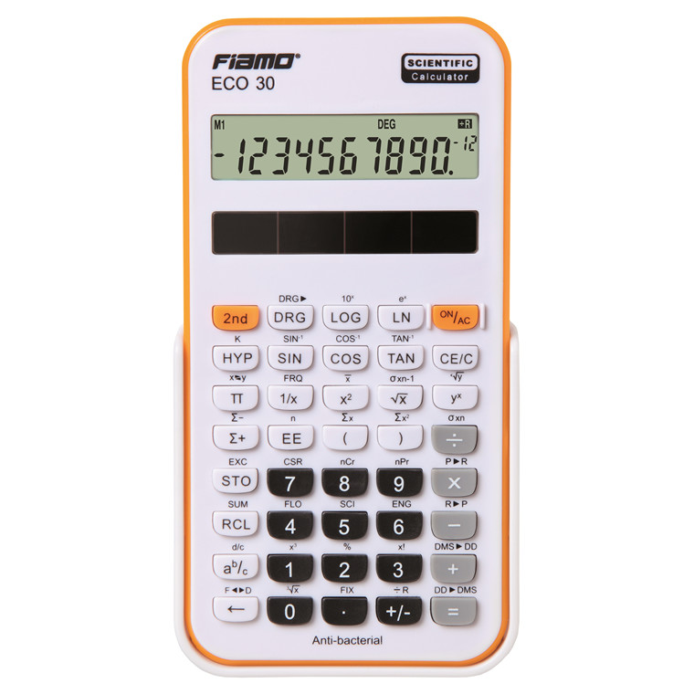 Fiamo Eco 30 Anti-bacterial Calculator, Orange