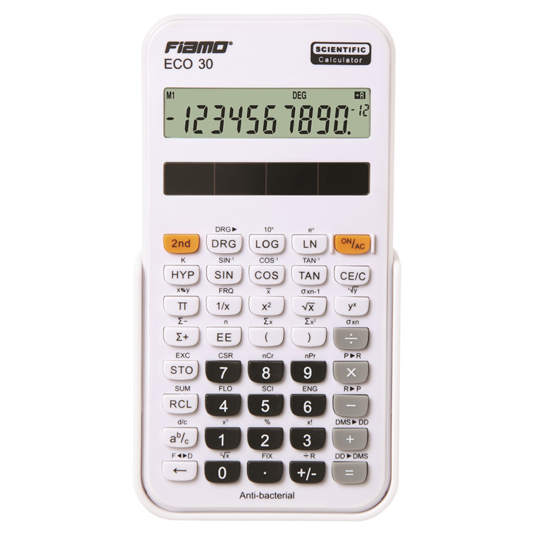 Fiamo Eco 30 Anti-bacterial Calculator, White